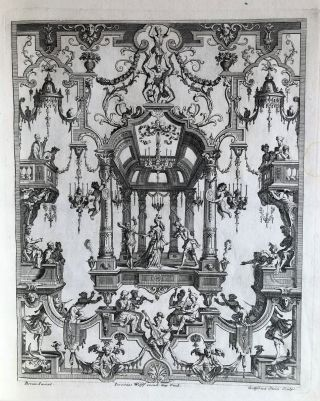 Collected volume of ornament prints. Jean I BERAIN, artist, Jeremias WOLFF, publisher