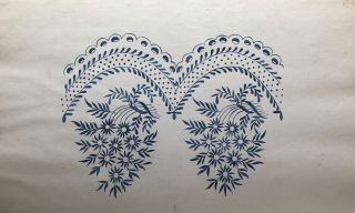 Album of watercolor and pen-and-ink designs for embroidery.