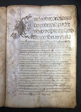 Regla de la P[a]sio[n]: Manuscript rules for the Confraternity of the Holy Cross of La Horcajada,...